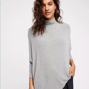 We the free People terry oversized turtleneck top